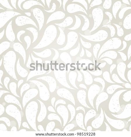 Silver vintage seamless background. EPS 10 vector illustration. - stock vector