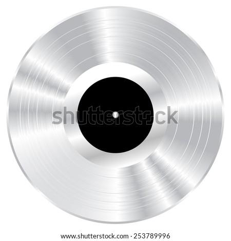 Silver vinyl vector illustration. - stock vector
