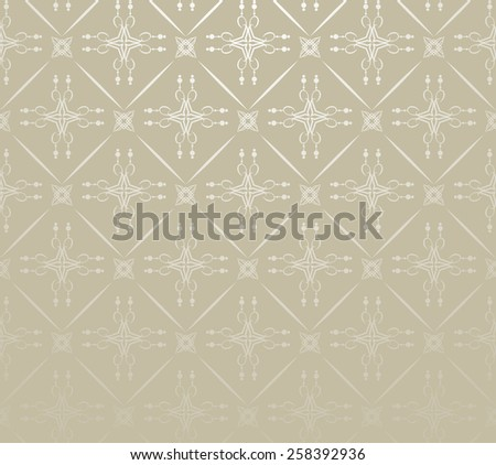 silver wallpaper in old style for your design - stock vector