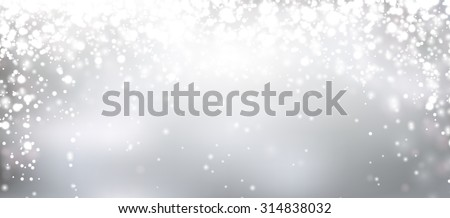 Silver winter abstract background. Christmas background with snowflakes and place for text. Vector.  - stock vector