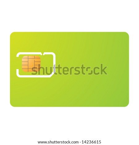 Sim card and carrier template - stock vector