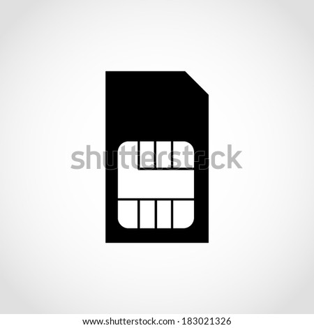 Sim Card Icon Isolated on White Background - stock vector