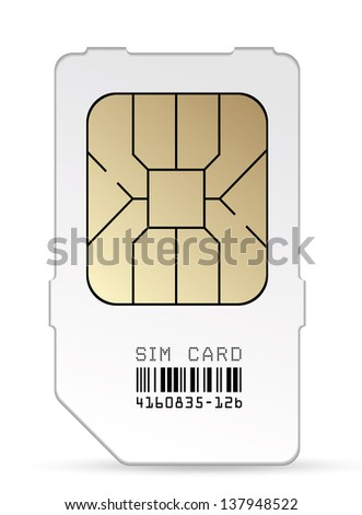 Sim card icon. Vector EPS-10 - stock vector