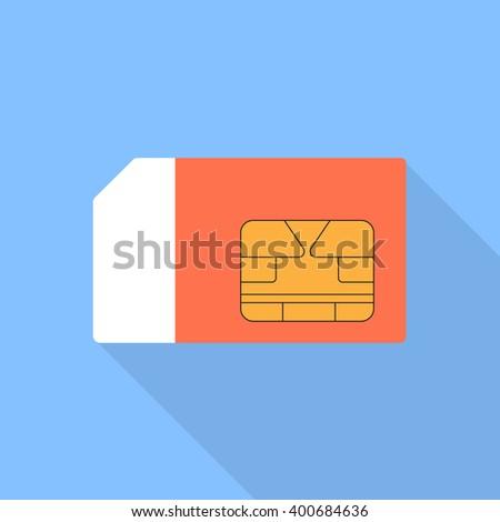 Sim card vector illustration of a flat design. - stock vector