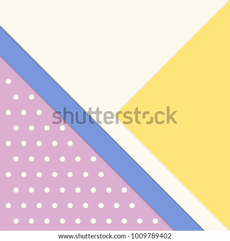Simple abstract background with multicolored paper layers and dots pattern