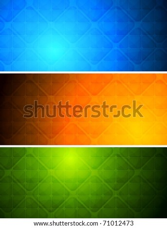 Simple abstract banners with square texture. Eps 10