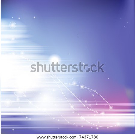 Simple abstract blue background - stock vector
