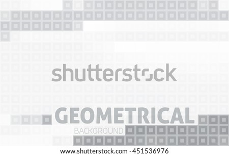 Simple abstract gray geometric background. Pixelated vector pattern. Black-and-white minimal graphics - stock vector