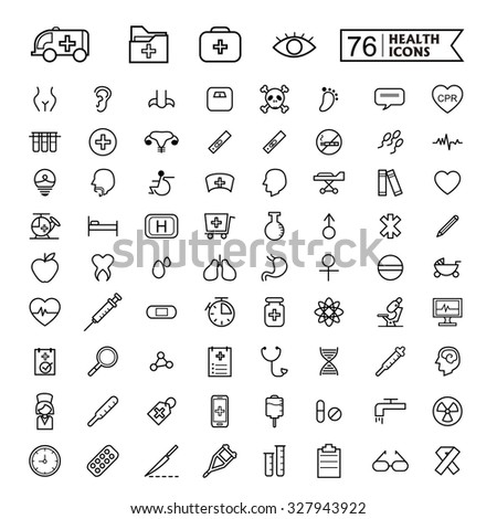 simple and trendy 76 thin line icon for medical concept - stock vector