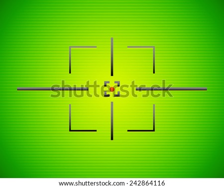 Simple angular target mark on vivid lined background - stock vector