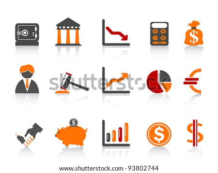 simple bank icons,color series - stock vector