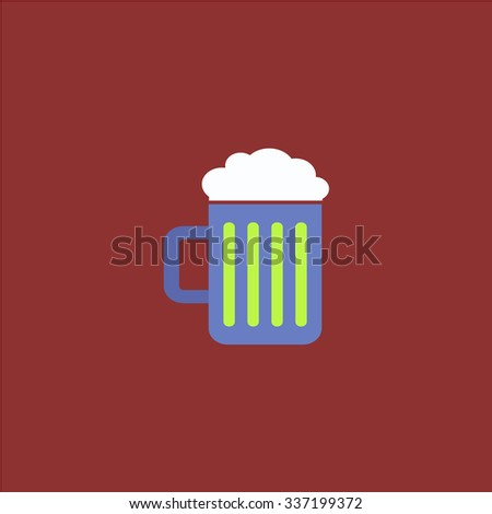 Simple Beer mug. Icon Vector. Icon Picture. Icon Graphic. Icon Art. Icon JPG. Icon JPEG. Icon EPS. Icon AI. Icon FLAT. Icon SIMPLE - stock vector