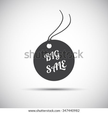 Simple big sale label, vector icon for your business