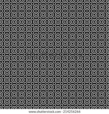 Simple black and white vector pattern - stock vector