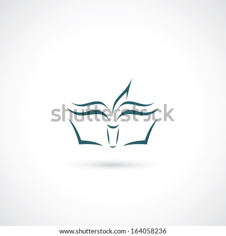 Simple book illustration - stock vector