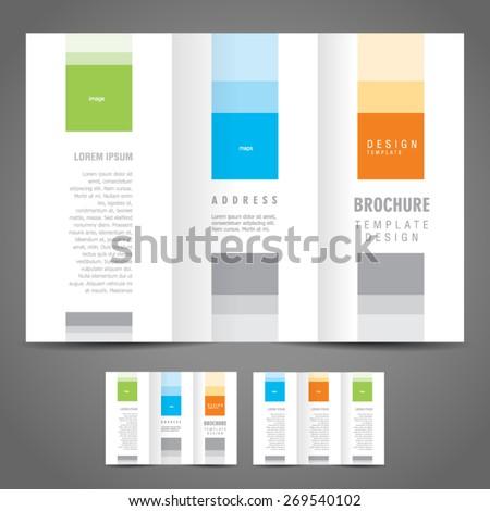 simple brochure design template tri-fold - stock vector