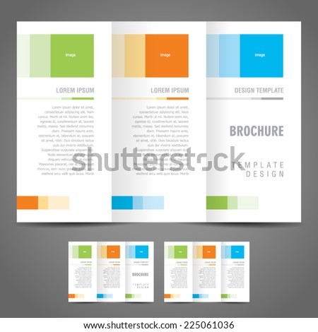 simple brochure design template trifold - stock vector