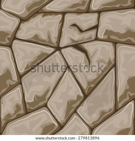 simple brown stone seamless pattern. Vector illustration - stock vector
