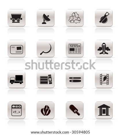 Simple Business and industry icons - Vector Icon set 2