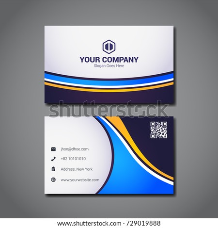 Simple business card design template company stock vector 729019888 simple business card design template with company logo placeholder colourmoves