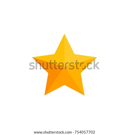 Simple Business Icon 1 Star Symbol Stock Photo Photo Vector