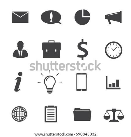 Office Icons Set Stock Vector 275622503 Shutterstock