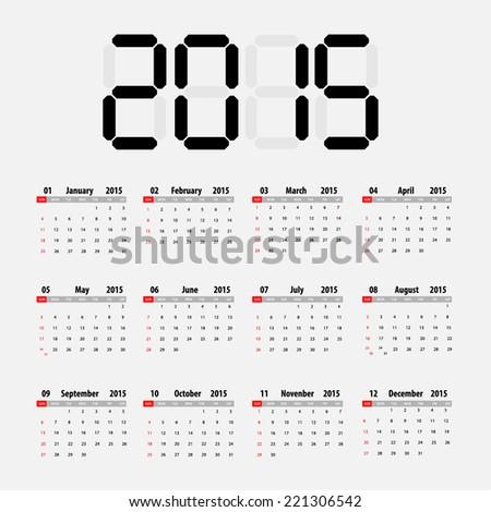 simple 2015 calendar 2015 calendar design 2015 calendar vertical week starts with sunday