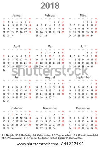 simple calendar 2018 one year at a glance starts monday with public holidays for