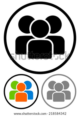 Simple characters, figures, group graphics. - stock vector