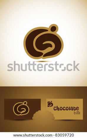 Simple chocolate or coffee icon such logo, Vector EPS10. - stock vector