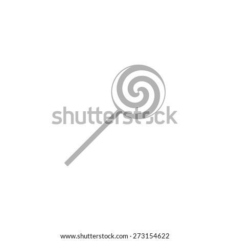 Simple Christmas Candy Cane Icon. - stock vector