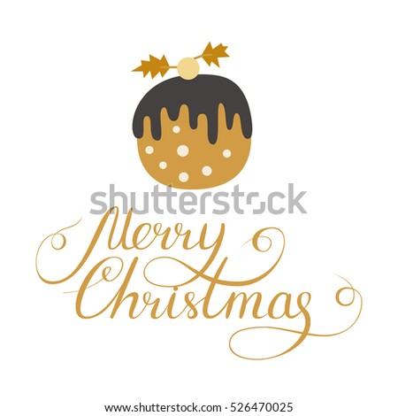 simple christmas card design doodle illustration stock vector