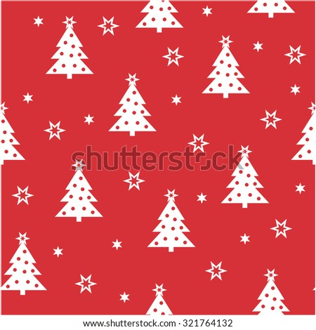 Simple Christmas seamless pattern to use for cards, web page backgrounds,  textile designs,