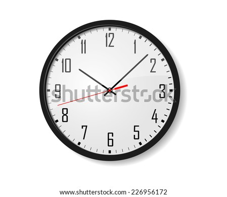 Simple clock Vector - stock vector