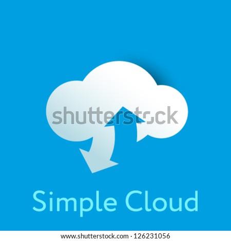 Simple cloud corporate identity - stock vector