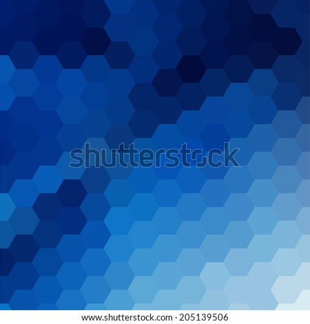 simple colorful background consisting of hexagons - stock vector