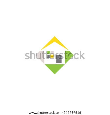 Logo Design Abstract House Vector Template Stock Vector ...