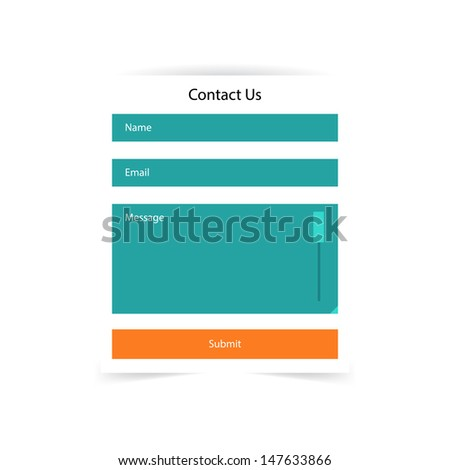 Simple contact us form templates. Vector template. - stock vector