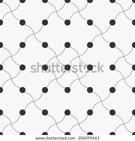 Simple creative pattern, seamless vector background