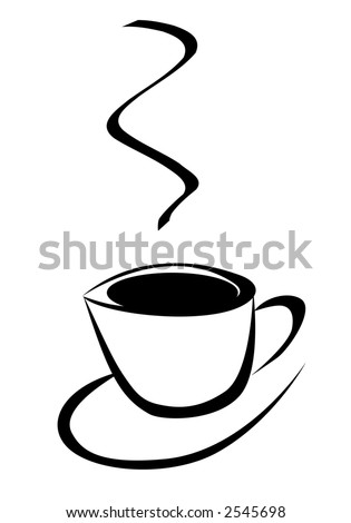 simple cup of coffee (vector)
