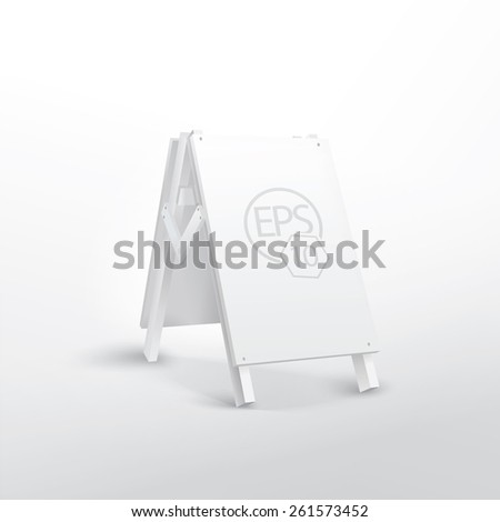 Simple 3D Billboard Composition For Printed or Digital Media. Adjustable EPS10 Vector File - stock vector
