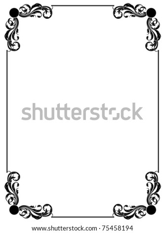 simple decorative frame