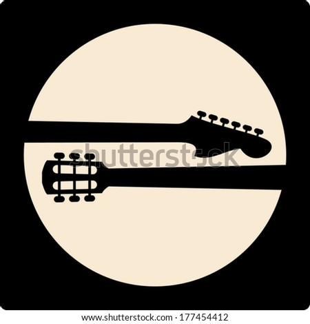 simple design of music icon - stock vector