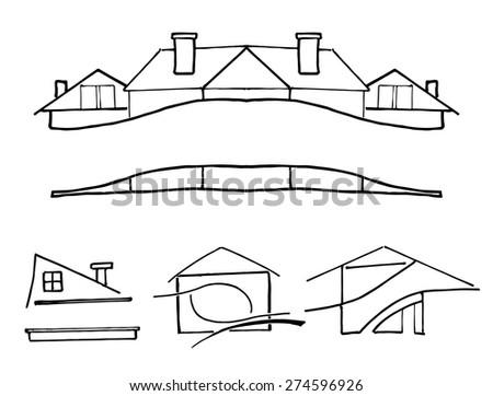 simple doodle sketch - stock vector