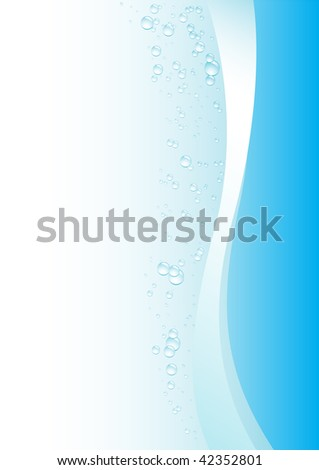 Simple drops blue background for design - stock vector