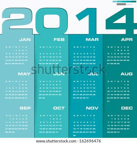 november 2014 calendar editable calendar 2015 vector design template simple stock vector 230366230