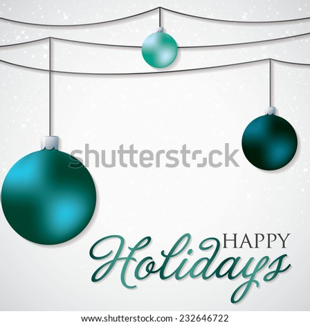 Simple, elegant bauble Christmas card in vector format. - stock vector