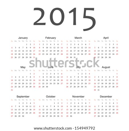 2015 Calendar Stock Photos, Royalty-Free Images & Vectors ...