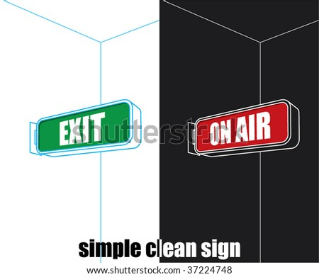 simple exit , on air sign - stock vector