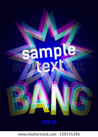 simple explosion bang - stock vector